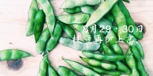 【今週末8/29・30開催】 はるばる北海道・東北から、4種の枝豆が再び上京。
