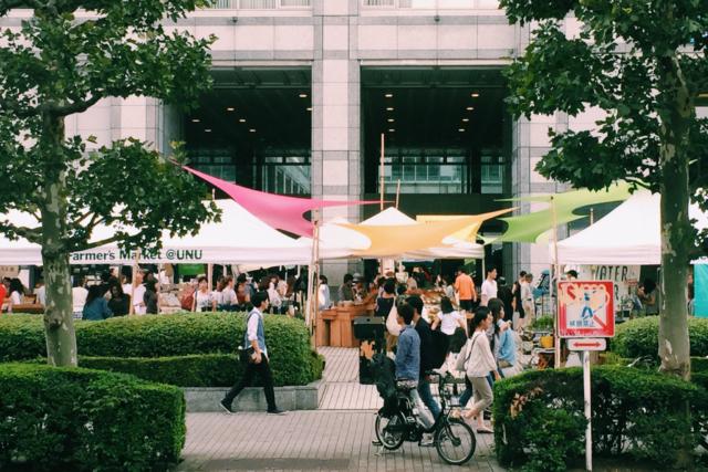 3/27(土)より、国連大学でのファーマーズマーケット通常開催を再開します!